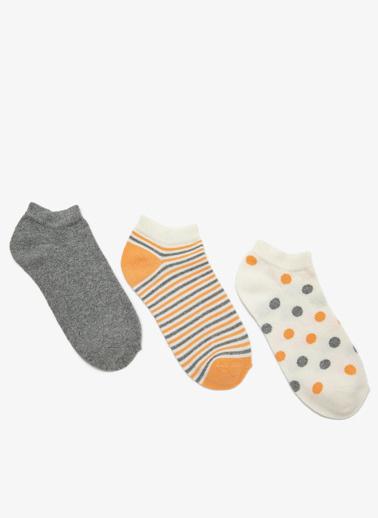 Koton 3'lü Çorap Ekru